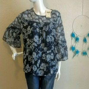 NWT.. floral Lucky Brand Top